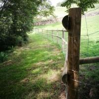 nouvelle barrière sur le chemin